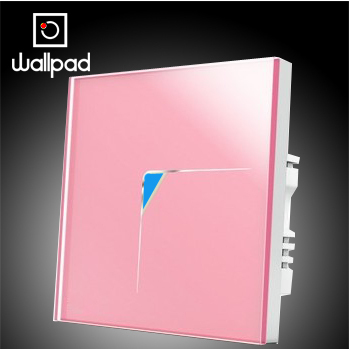 Free Shipping, Wallpad 1 Gang 1 Way New Style Wall Touch Switch,Luxury Pink Crystal Glass Wall Light Touch Light Switch 110~250V 2017 free shipping smart wall switch crystal glass panel switch us 2 gang remote control touch switch wall light switch for led