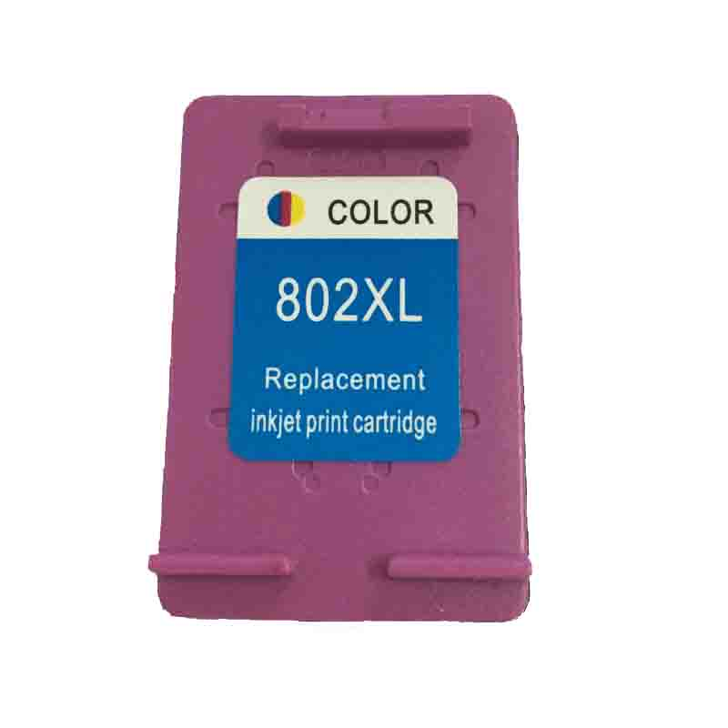 vilaxh 1Pcs 802 XL color Compatible ink cartridges For HP802 HP DeskJet 1050 2050 3050 2150 3150 1010 1510 2540 printer