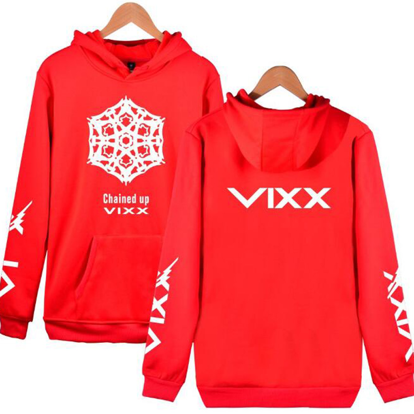 Moletom K POP KPOP VIXX CHAINED UP 2nd Album Oversized Hoodie Women Men Harajuku Sweatshirt Casual Loose Fleece Hooded Tracksuit