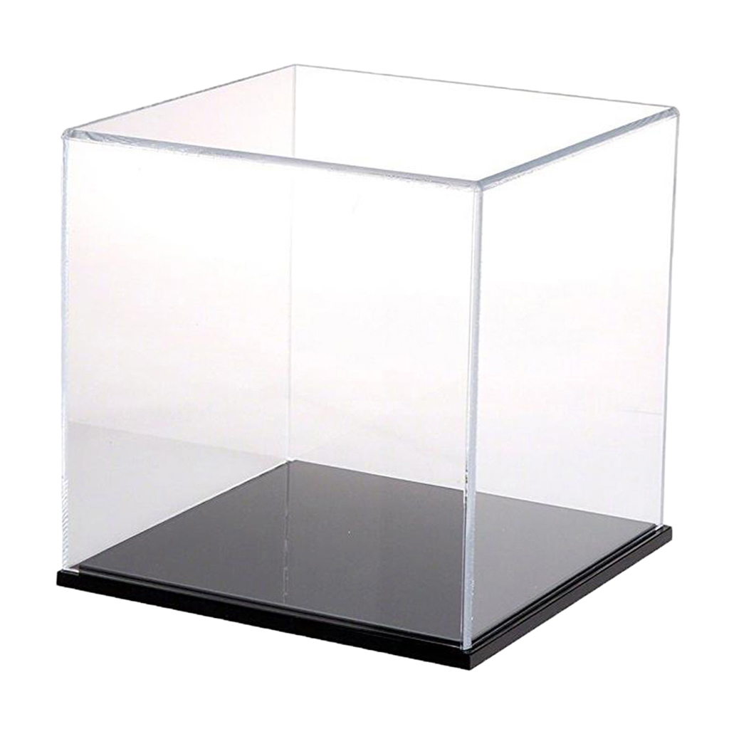 Acrylic Dustproof Display Case Show Box Cube 8x8x8cm for Diecast Alloy Car Models Protective Retail Showcase