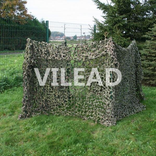 VILEAD 3 M * 3 M Filet Camo Filet vert Camouflage Filet soleil bâche balcon tente thème partie décoration chasse Gazebo Filet