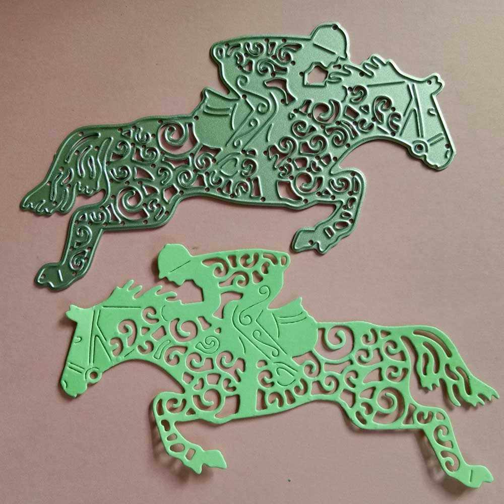 Фото Рыцарь Райдер металла резки Скрапбукинг Крафтовая окраска порезы тонкая бумага