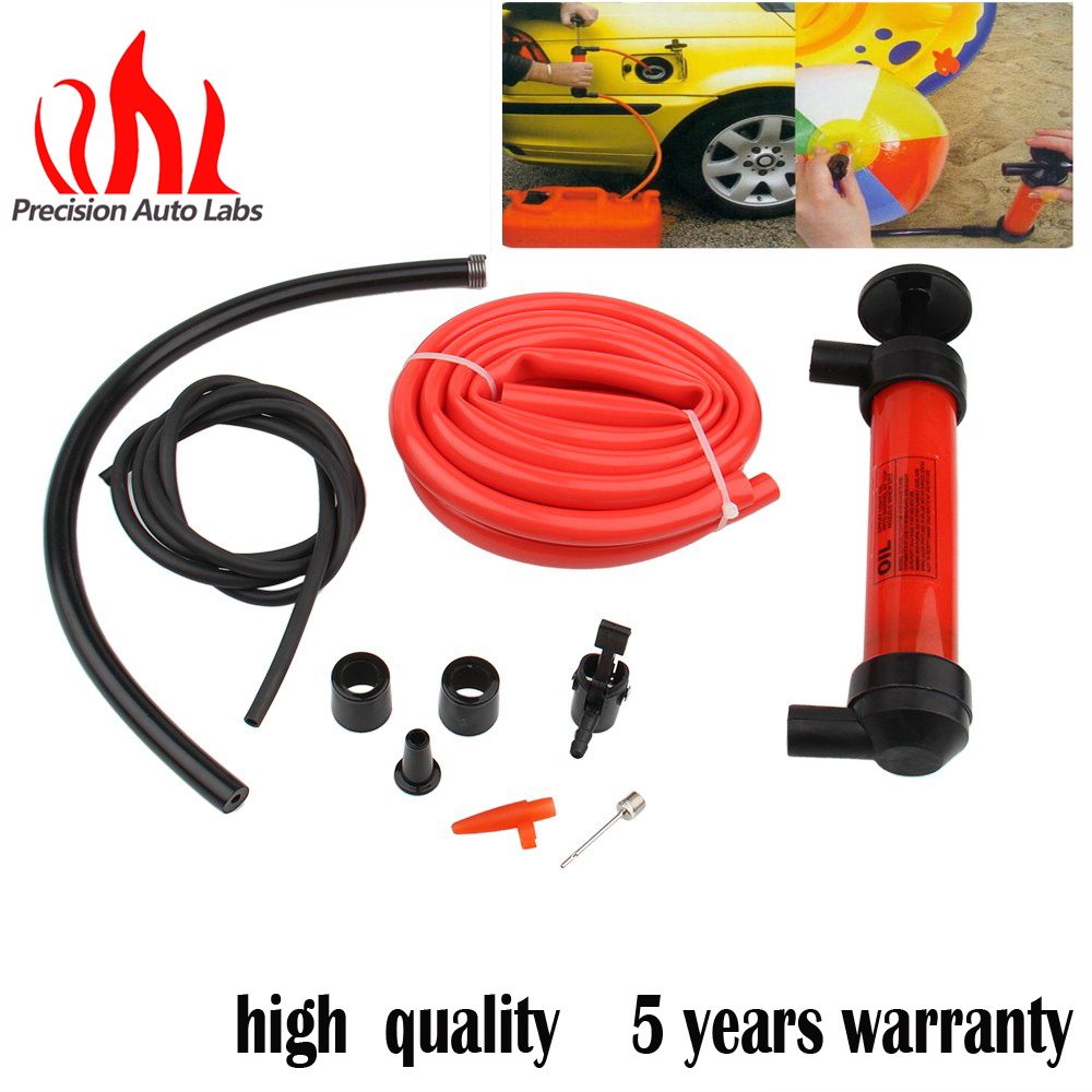 Precision auto labs oil extractor pump siphon water oil liquid fuel hand pump air inflator extractor oil change pump