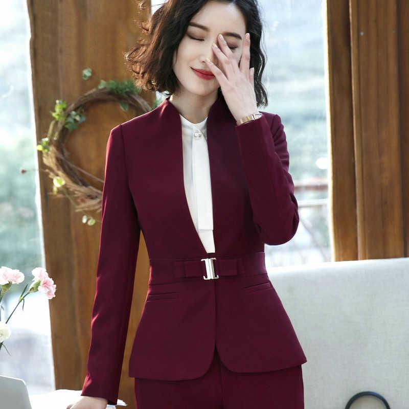 Элегантные и модные женские блейзеры Осенняя темпераментная черная серая куртка с длинным рукавом офисная Дамская куртка размера плюс рабочая одежда пальто