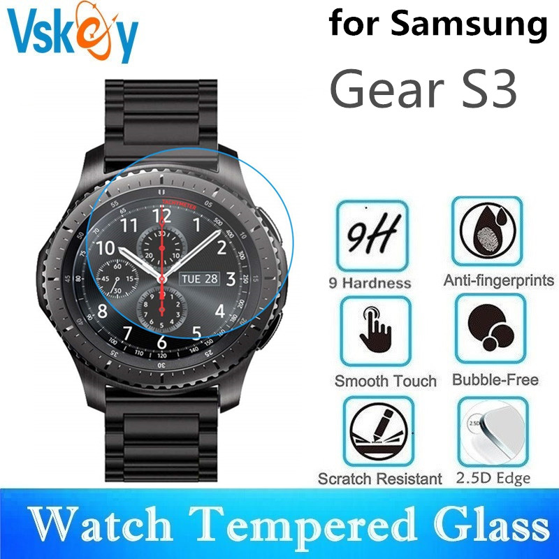 VSKEY 100pcs Tempered Glass for Samsung Gear S3 frontier Screen Protector Gear S3 Classic Sport Smart