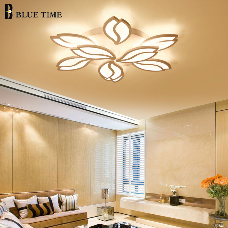 White Finished Modern Led Ceiling Lights For living Room Bedroom Led Lustres Acrylic Ceiling Lamp Indoor Home Lighting Fixtures. led white ceiling lighting indoor bedroom ceiling lamps fixtures home modern american country style living room ceiling lights