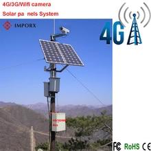 4G/3G/Wifi cámara ip al aire libre con energía solar