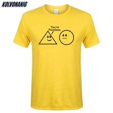 KOLVONANIG Mens Clothing Brand Youre Pointless Sarcastic Nerd Geek Print T-Shirt Cotton Short Sleeve Funny Math T-Shirts