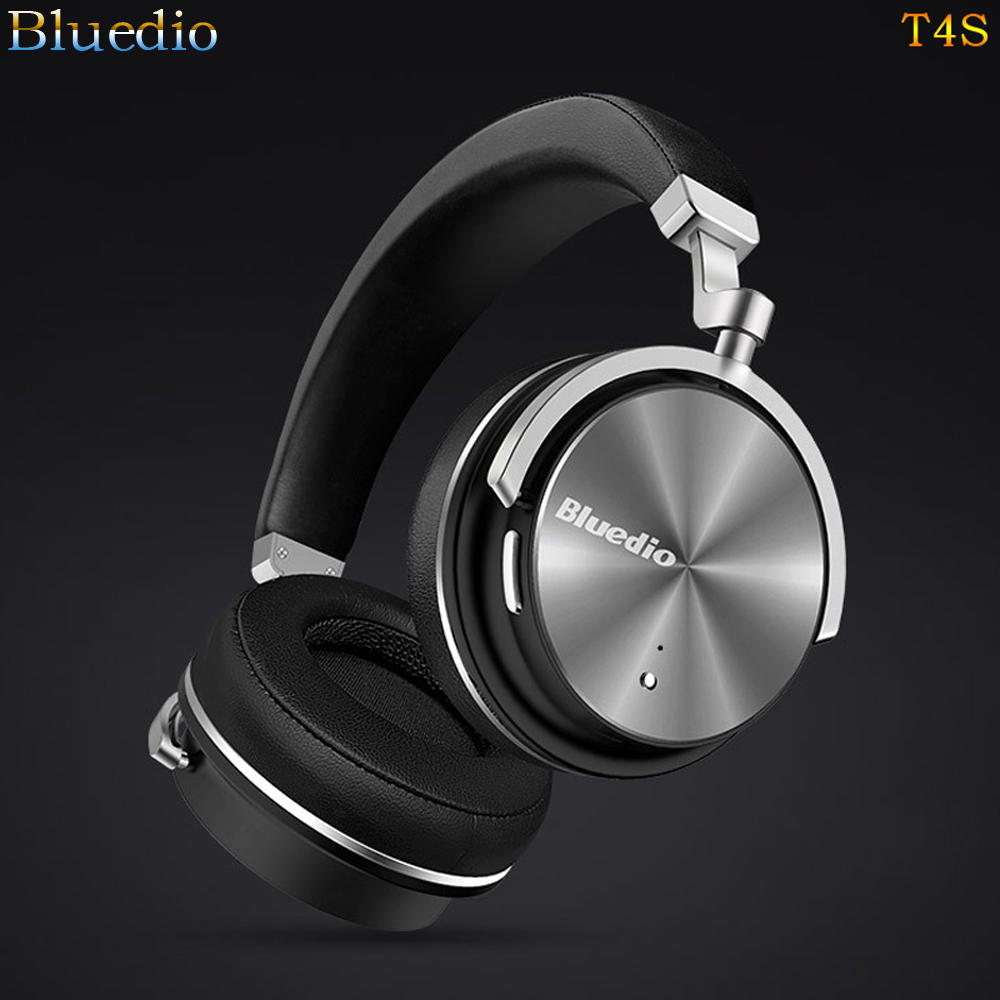 Original Bluedio T4S Active Noise Cancelling Wireless headset Bluetooth Headphones Stereo Bass Music auriculares Mic Call