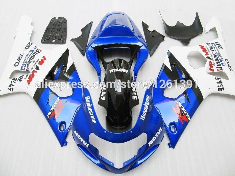 Подходит для сине-белый обтекатель комплект для SUZUKI GSX-R1000 GSXR1000 GSX R1000 GSXR 1000 K2 K1 00 01 02 2000 2001 2002 обтекателя
