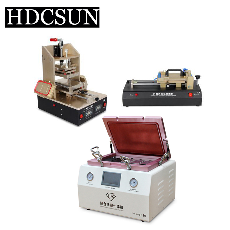 TBK 15 Inch OCA Vacuum Laminating machine LCD Separator Glue Remover  Frame Laminator manual OCA Polarizer Film Laminating new arrival ko no 1 oca vacuum laminating machine refurbish repair oca laminator lcd lamination machine for 7 phone screens