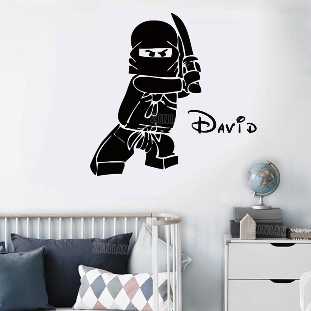 Personalized Name Ninjago Lego Vinyl Wall Decal Sticker For Kids Boy Rooms  Ninga Childrenu0027s Room Custom