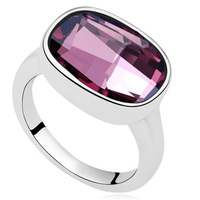 Top Quality Fashion Big Ring Made With Swarovski Elements Crystal Brand Jewelry Large Ring For Women