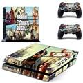 Классический Grand Theft Auto 5 GTA 5 PS4 Консоли Винил Кожи для Playstation 4 + 2 контроллера наклейки