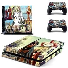 Grand Theft Auto 5 GTA 5 ل PS4 وحدة تحكم جلد فينيل ملصق تحكم ل بلاي ستيشن غطاء الجلد 4 + 2 تحكم غمبد ملصق مائي