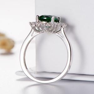 Image 4 - Kuololit Luxe Spinel Emerald Ringen Voor Vrouwen 925 Sterling Zilveren Sieraden Engagement Wedding Mei Birthstone Ring Romantische Gift