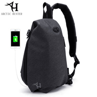 ARCTIC HUNTER Casual Travel Men S Crossbody Bags USB Charg Male Chest Bag Anti Theft Waterproof