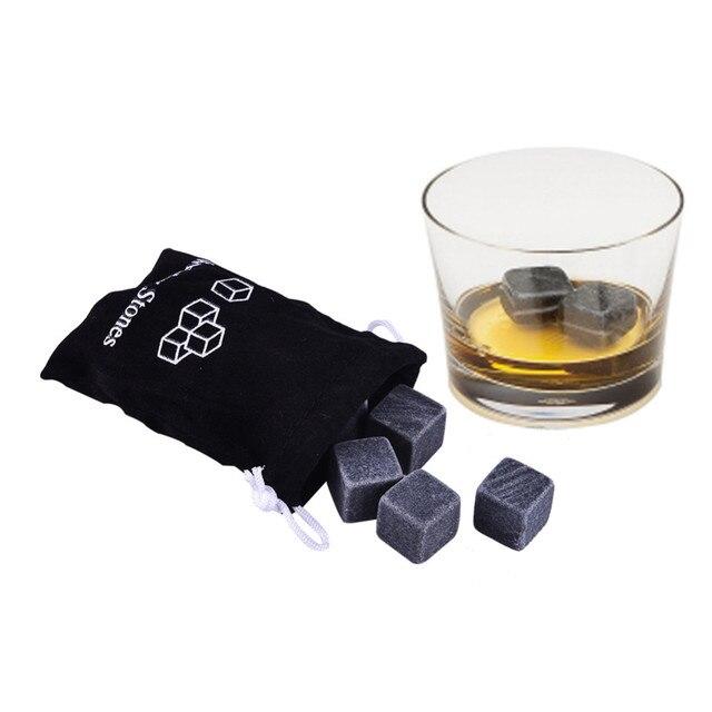 9 Pcs Reusable Whiskey Stones Chillers Granite Wine Drinks Cooler Ice Cubes Whiskey Rocks Bulk