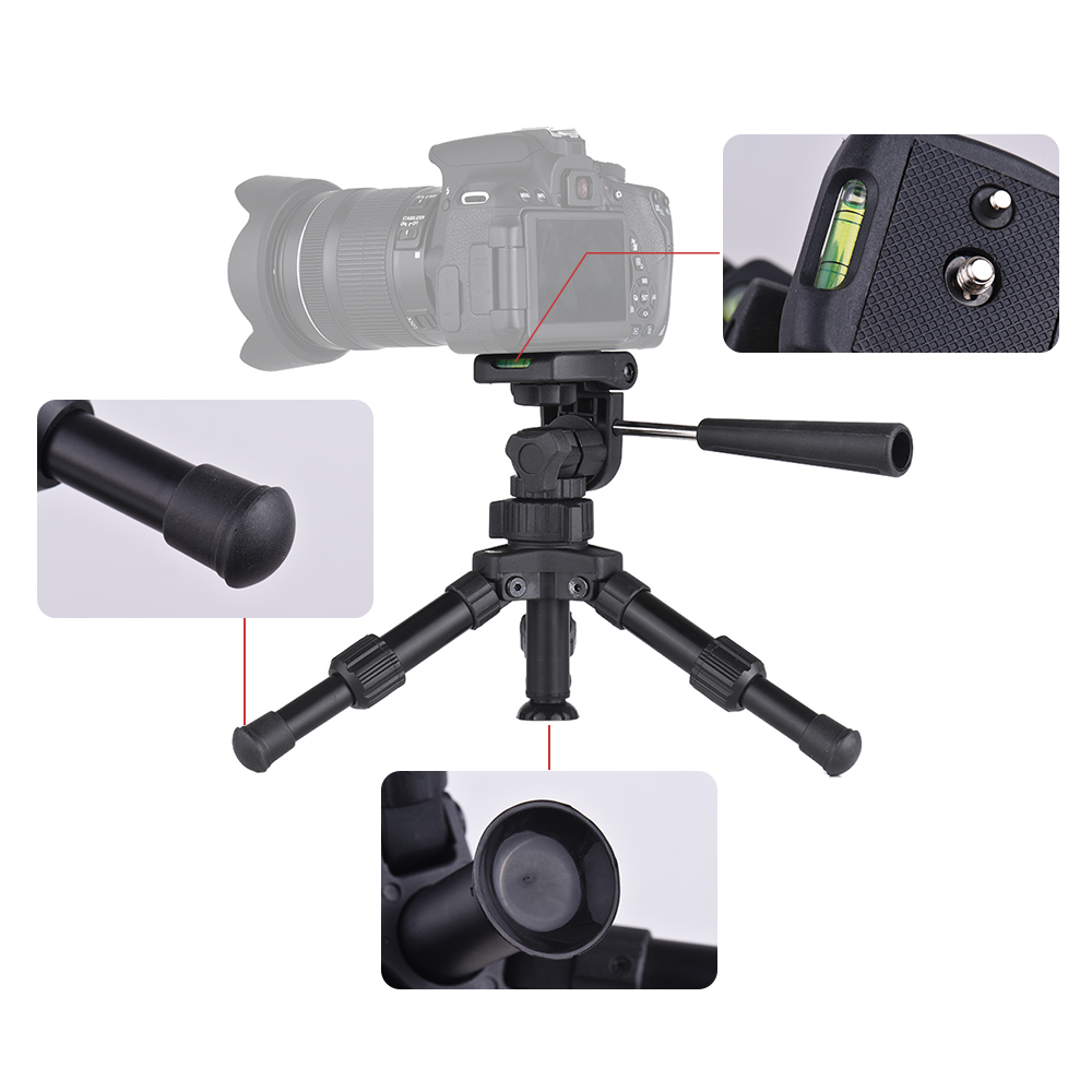 Image 3 - XILETU XB 2 Panoramic Portable Mini Tabletop Tripod For Digital Camera With Three dimensional Tripod Head-in Tripods from Consumer Electronics
