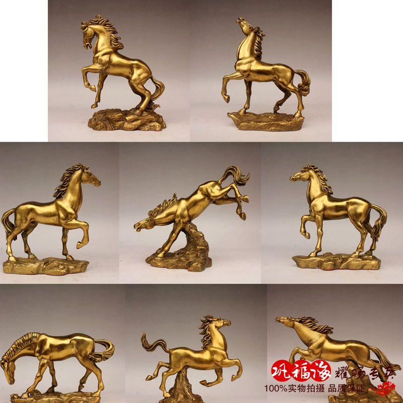 Бесплатная доставка Медь лошадь украшения Медь скачущей лошади украшения дома подарок
