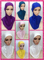 DD2 Long section Pure color muslim underscarf comfortable fashion hijabs muslim underwear headband scarves