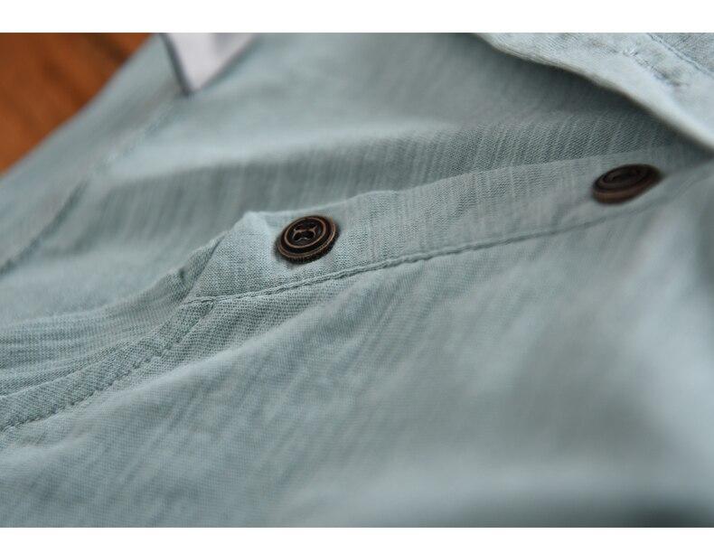 Yeni Varış Benzersiz Desigan Grand-V Yaka Düğmeleri ile Kısa - Erkek Giyim - Fotoğraf 4