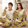 Women Or Men Cotton Pajama Set Character Pyjama Set Long Sleeve Pijama Set Round Neck Sleepwear Cute Night Wear Casual Home Wear
