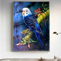 Bricolage 5D diamant peinture animaux perroquets résine circulaire perceuse broderie point de croix strass décoration peinture