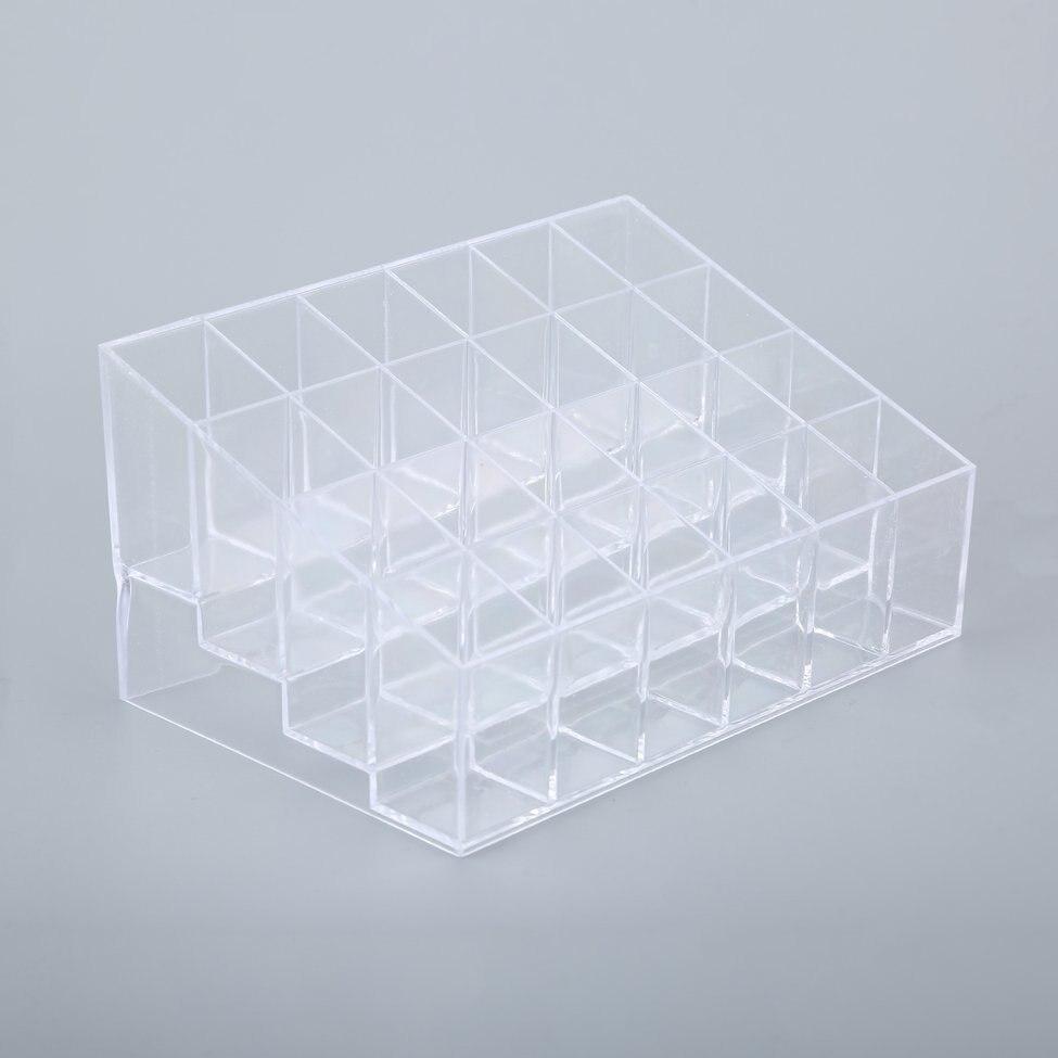 Clear Acrylic 24 Cosmetics Organizer 10 Organizer Case Holder Display Stand Storage Cosmetic Box various make ups cosmetics acrylic plastic organizer holder transparent