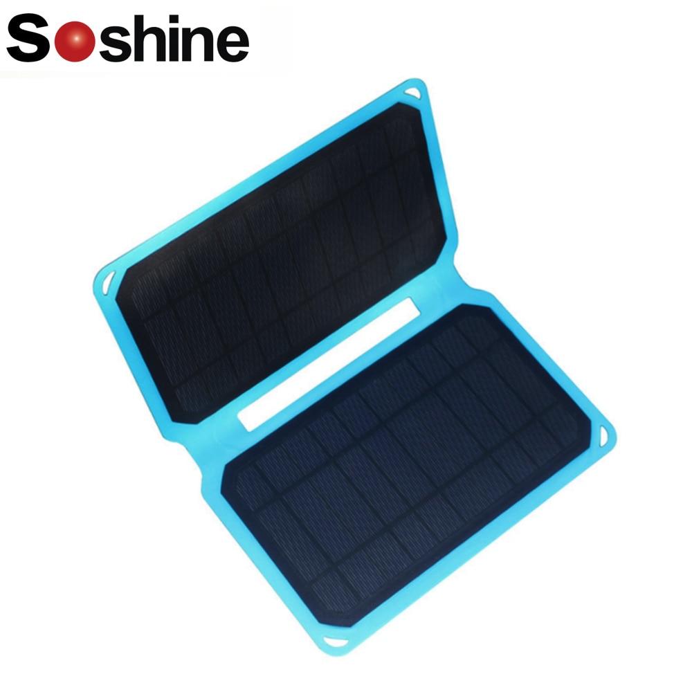 Mini panneau solaire 5.3 V 1.9A 10 W portable panneau solaire chargeur voiture moto cellule solaire DC Port USB étanche pliable Camping