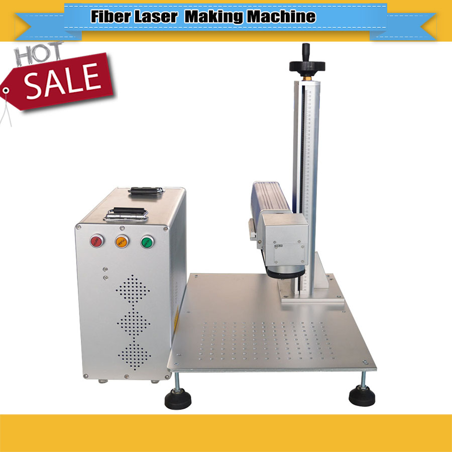 High Quality 20W/30W Metal Fiber Laser Marking Machine Used For Gold,silver,copper, Aluminum Marking With Factory Price For Sale