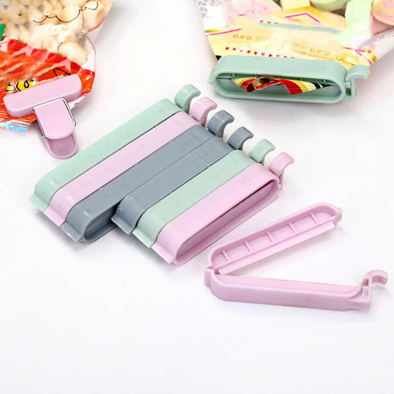 12Pcs/set Bag Clips Househoud Snack Fresh Food Storage Bag Sealer Kitchen Tool accessories Mini Vacuum Sealer Clamp Food Clip
