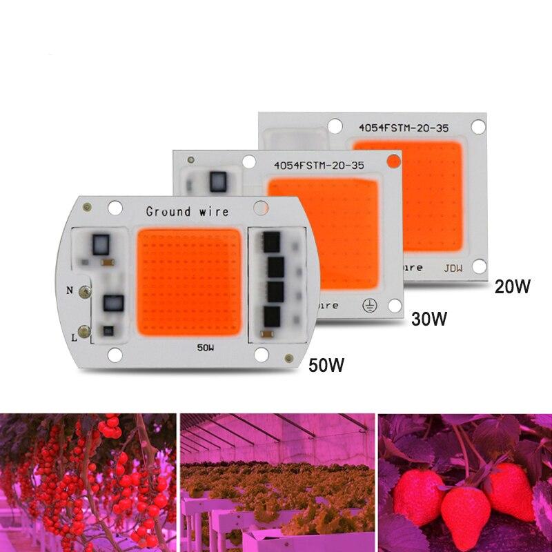 1 pz Hydroponice AC 220 V 20 w 30 w 50 w principali coltivano circuito pieno spettro 380nm-840nm per interni led coltiva la luce