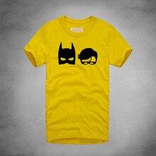 DC Movies Man T-shirts Batman Superman Battle Tops & Tees Superheroes Pattern Cotton O neck Summer Hot Fashion camisetas hombre