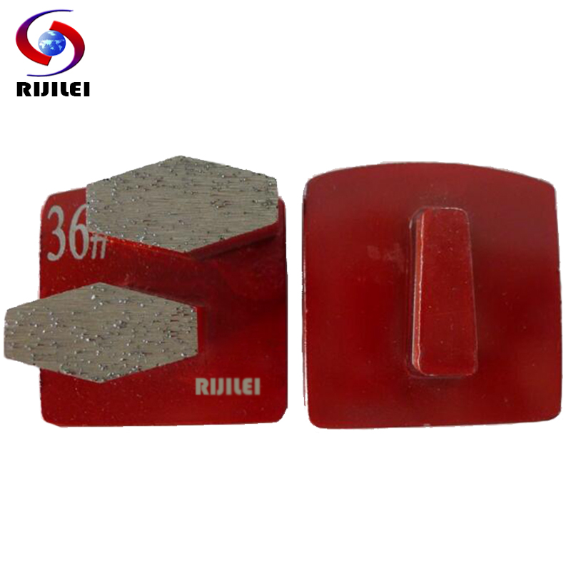 RIJILEI 12PCS Set Trapezoid Metal Bond Redi lock diamond grinding disk Concrete Grinding Shoes disc floor