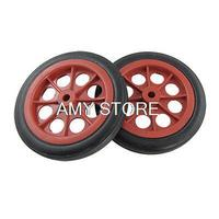 4 4 Shopping Trolley Basket Red Black Wheels