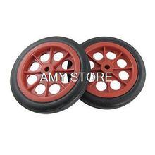 4.5 «11.6 см Корзины Покупательские Тележки Красный Черный Резиновые Колеса Внутреннее Отверстие 8 мм