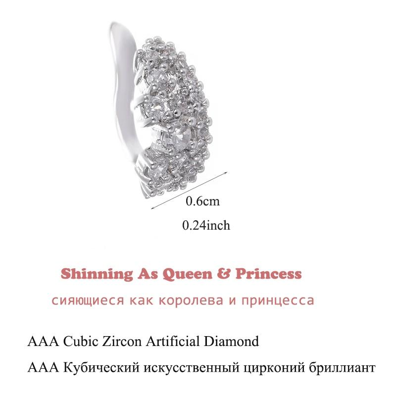 Mode 1ct Cubic Zirconia Anting Klip Pernikahan Anniversary Perhiasan - Perhiasan fashion - Foto 2
