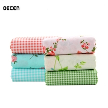 hot deal buy floral design cotton quilting fabric diy apparel sewing patchwork for diy sewing crafts pillows 6pcs/lot o2-6-30