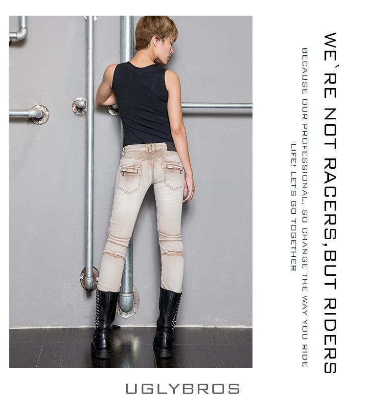 Ən yeni moda uglybros Guardian UBS018 Motosiklet jeans şalvar - Motosiklet aksesuarları və ehtiyat hissələri - Fotoqrafiya 2