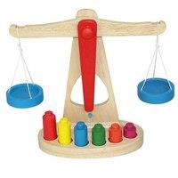 Balance Scale di legno con 6 Pesi per I Bambini La Matematica Montessori Early Educativi Stadera Bilanciamento Bambino Giocattolo di Formazione