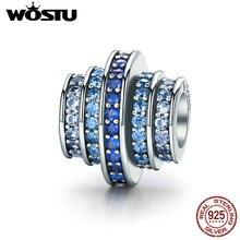 Высокое качество Настоящее стерлингового серебра 925 Blue Melody Бусины и бисер подходят оригинальный Пандора браслет Аутентичные Красивые ювелирные изделия CQC129