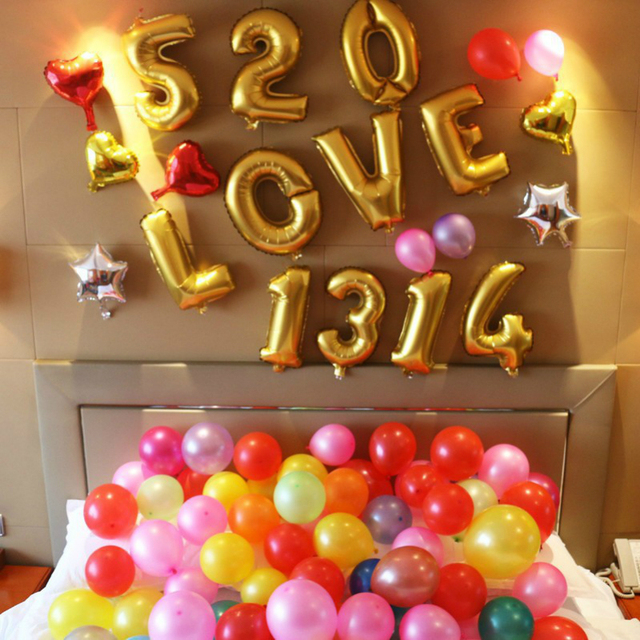 4pcs 16u0027u0027 Cute Silver/Gold Foil Ballon Helium Balloon Kids Birthday Event  Party