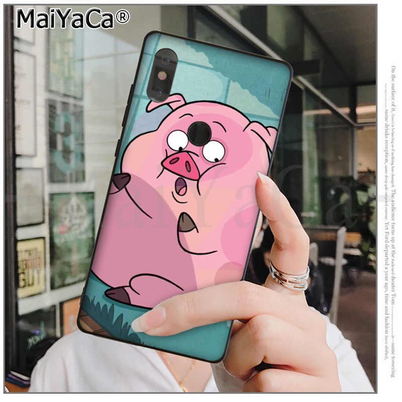 MaiYaCa gravity falls Rosa cerdo maravilloso híbrido caja del teléfono para xiaomi mi 6 8 se note2 3 mi x2 redmi 5 5 plus Nota 4 5 5