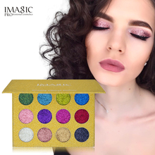 IMAGIC new 12 Color Palette Makeup Glitter Paint Eye Shadow Waterproof Cosmetic Glitter Single Eye Shadow Magnet Palette