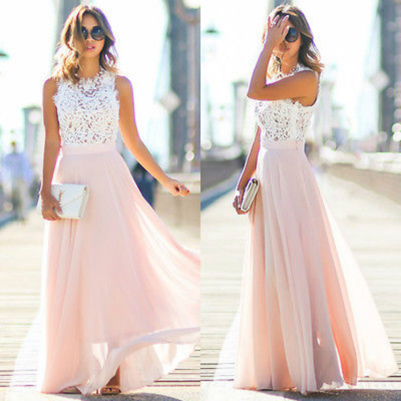 41c84279aec Detail Feedback Questions about Women Sexy Summer Dress Boho Maxi Long  Evening Party Patchwork Chiffon Dress Beach Dress Sundress on  Aliexpress.com ...