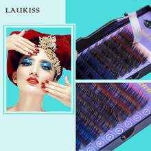 Colored Eyelash Growth Individual Rainbow Eyelashes Extension Cilia For Building Eyelashes Natural False Color Makeup Fake lash(China)
