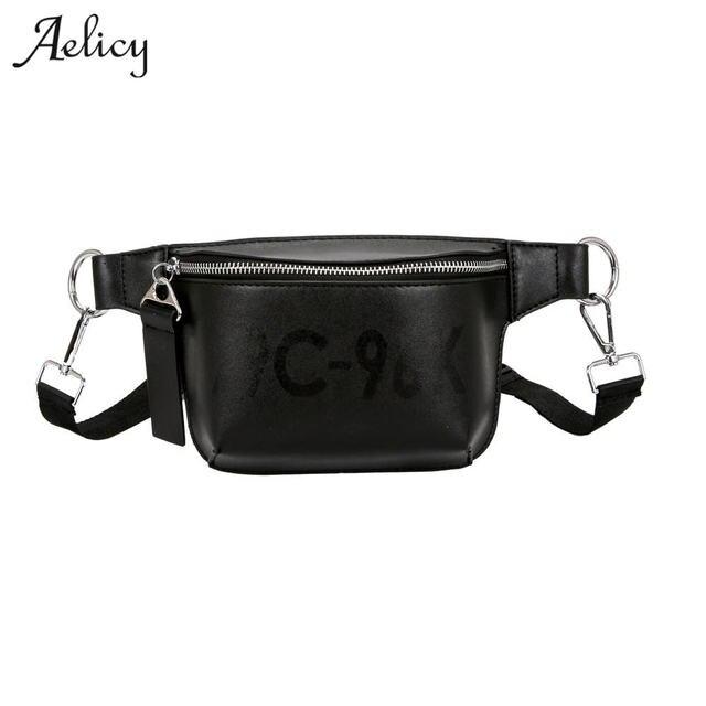 Aelicy 2018 Новый Для женщин дизайнер поясная Сумка груди мешок женский Элитный бренд поясная Дамская Мода кожаная сумка