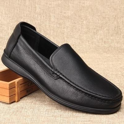 Fond Décontractée D'affaires Automne Père En Et Cuir As Grande Chaussures 1 Taille Pic Mou D'âge Moyen Printemps De Hommes Pédales 81wAqBS