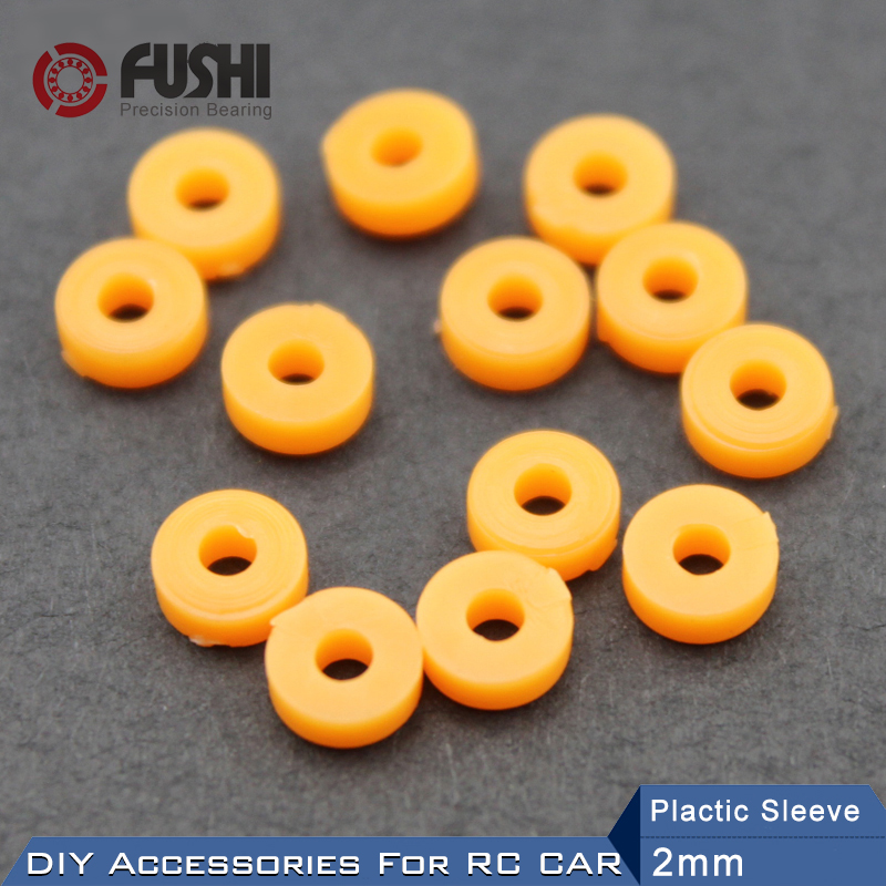 Plastic Axle Sleeve Shaft Sleeve 2mm 2.5mm 3mm The wheel Gear ABS Card Position Plastic Gasket Washer DIY RC Car Accessories 50 pcs 5mm x 2mm 8 teeth plastic gear wheel cog for diy toy car motor shaft